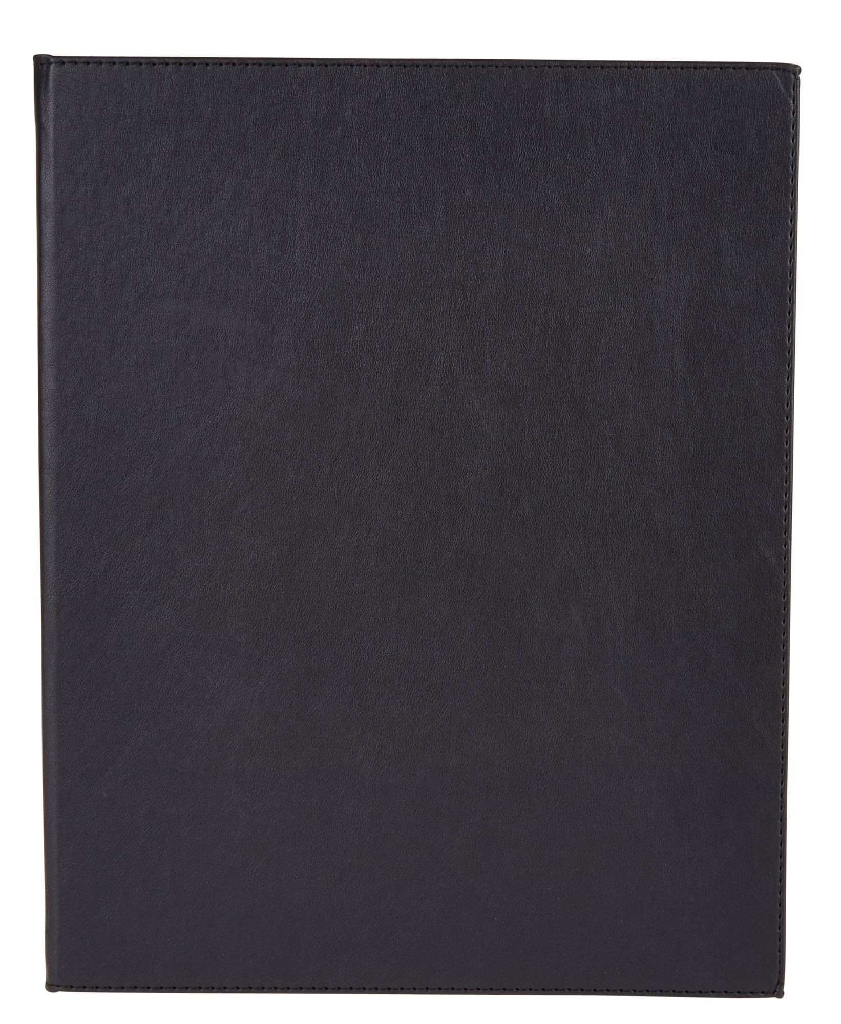 "Winco LMD-814BK 8-1/2"" x 14"" Black Leatherette Two Panel Menu Cover"