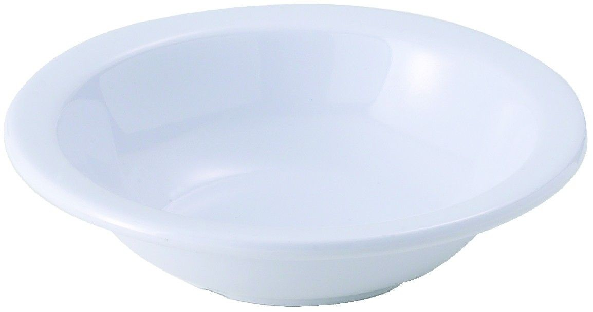 Winco MMB-10W White Melamine Grapefruit Bowl 10 oz.