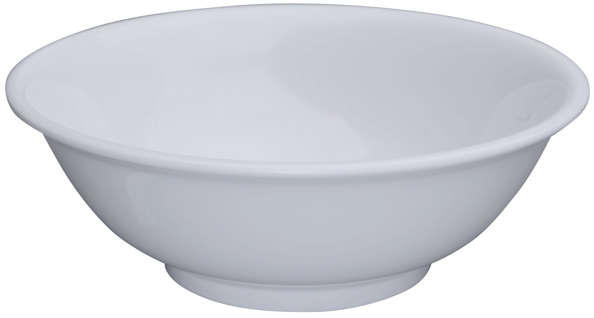 Winco MMB-41W 41 oz. Melamine Rimless Bowl White