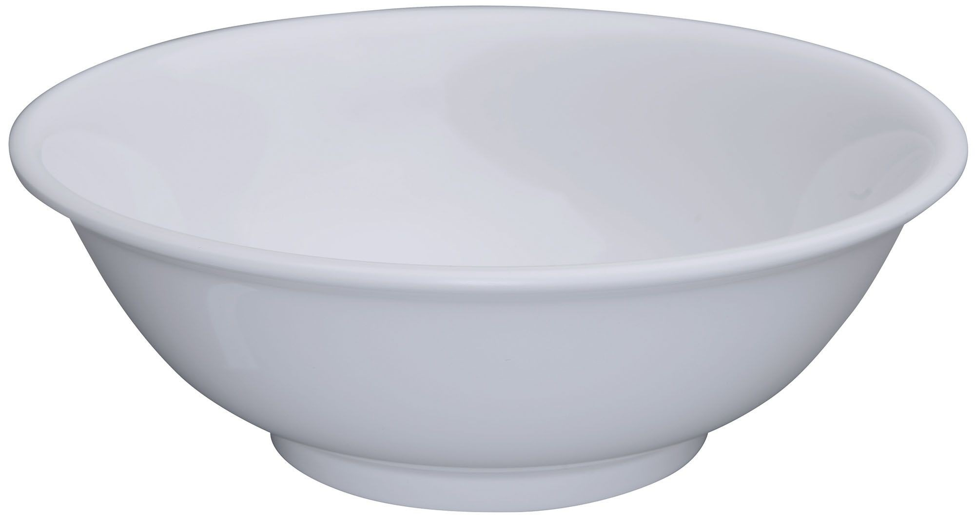 Winco MMB-52W White Melamine Rimless Bowl 52 oz.
