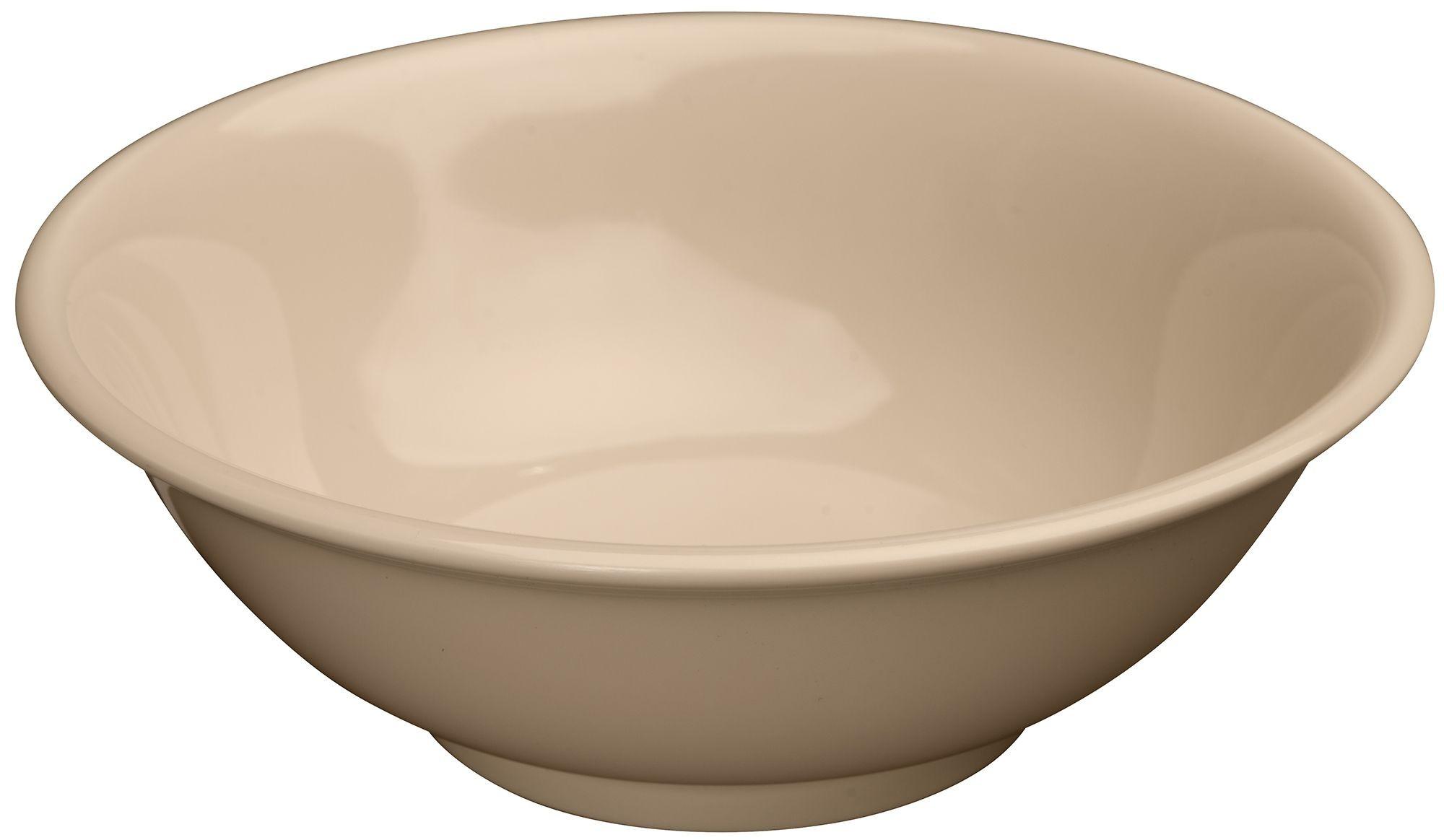 Winco MMB-70 Tan Melamine Rimless Bowl 70 oz.