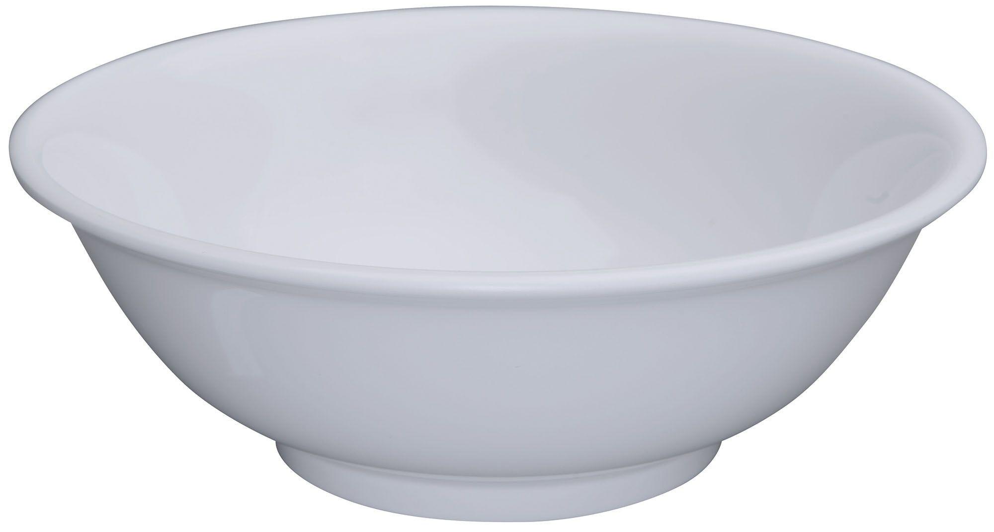 Winco MMB-96W White Melamine Rimless Bowl 96 oz.