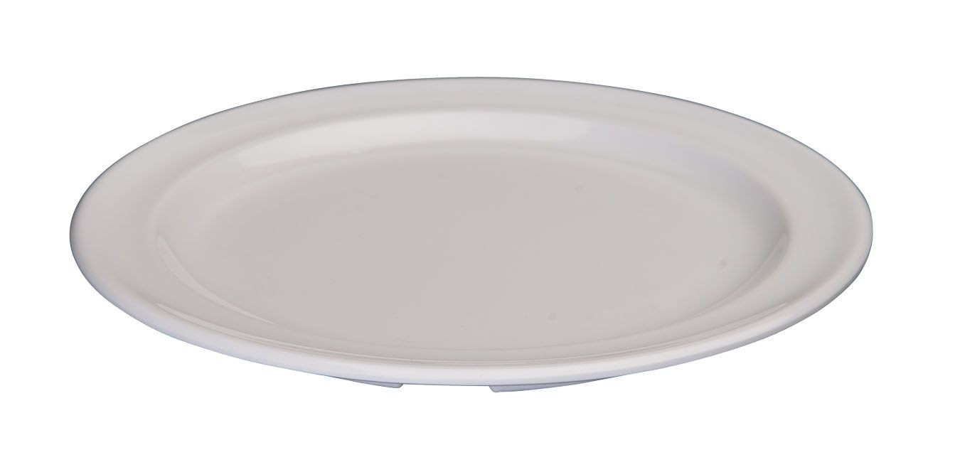 "Winco MMPR-5W White Melamine Round Plate 5-1/2"""