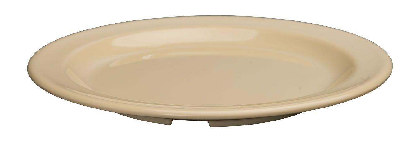"""Winco MMPR-7 Tan Melamine Round Dessert Plate 7-1/2"""""""