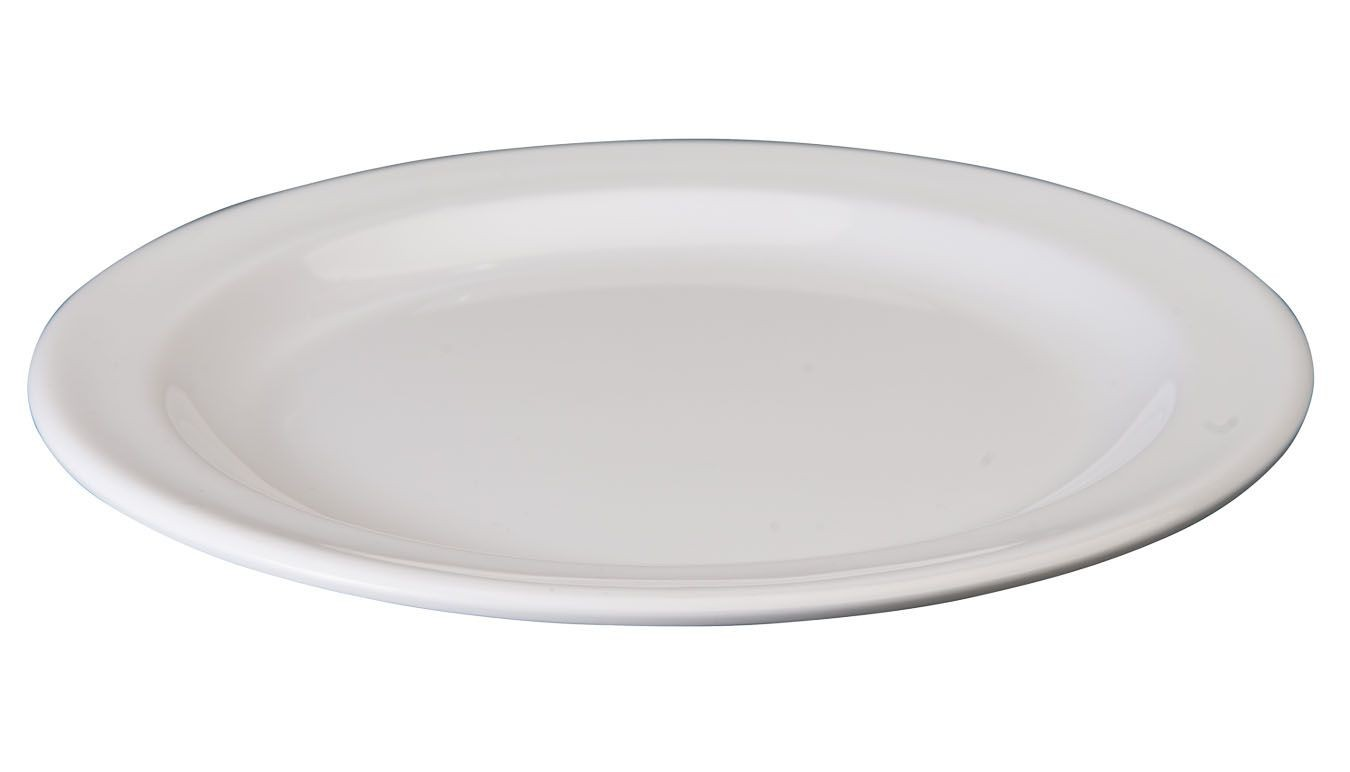 """Winco MMPR-7W White Melamine Round Dessert Plate, 7-1/2"""""""