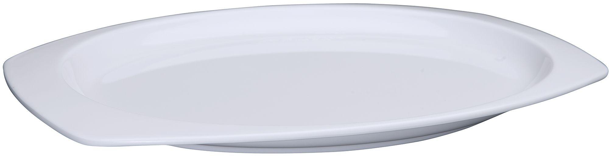 """Winco MMPT-117W White Melamine Rectangular Platter, 11-1/2"""" x 7-1/2"""""""