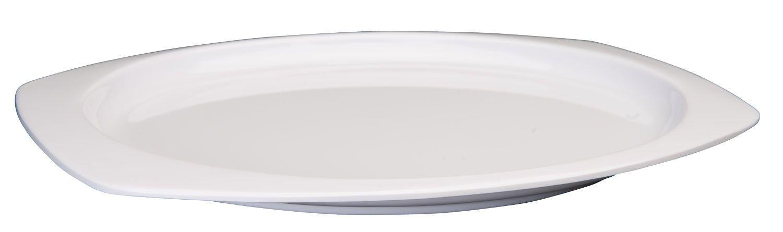 """Winco MMPT-129W White Melamine Rectangular Platter, 12-1/2"""" x 9"""""""