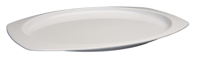 """Winco MMPT-1510W White Melamine Rectangular Platter, 15"""" x 10-5/8"""""""