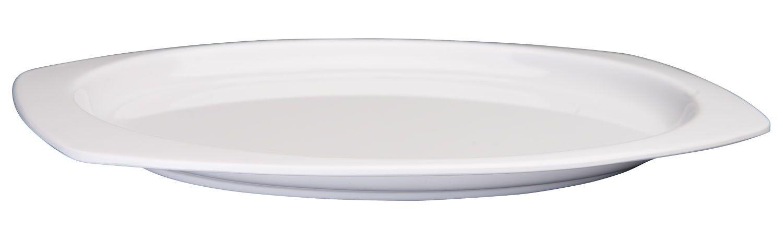 """Winco MMPT-96W White Melamine Rectangular Platter, 9-1/2"""" x 6-3/4"""""""