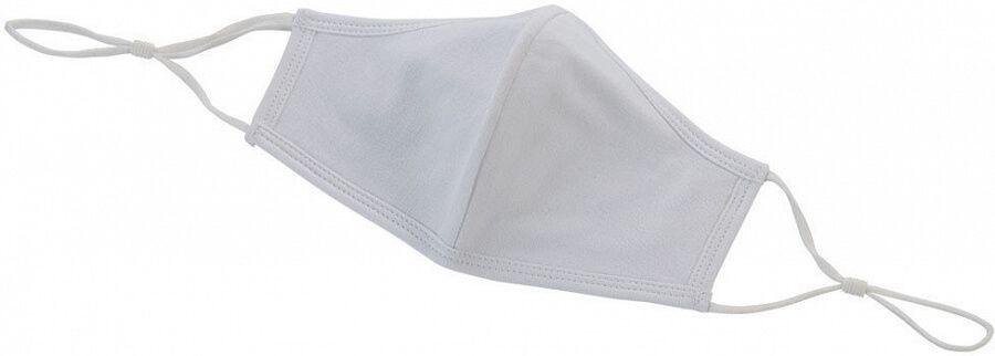 Winco MSK-2WLXL Adjustable/Reusable 2-Ply Cotton Face Mask, White, L/XL, 2/Pack