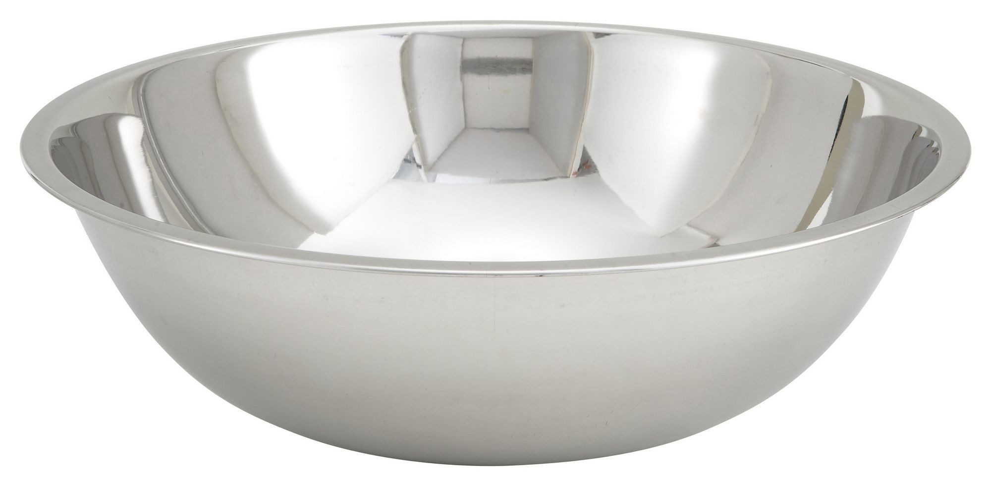 Winco MXBT-1300Q Stainless Steel All-Purpose Mixing Bowl 13 Qt.