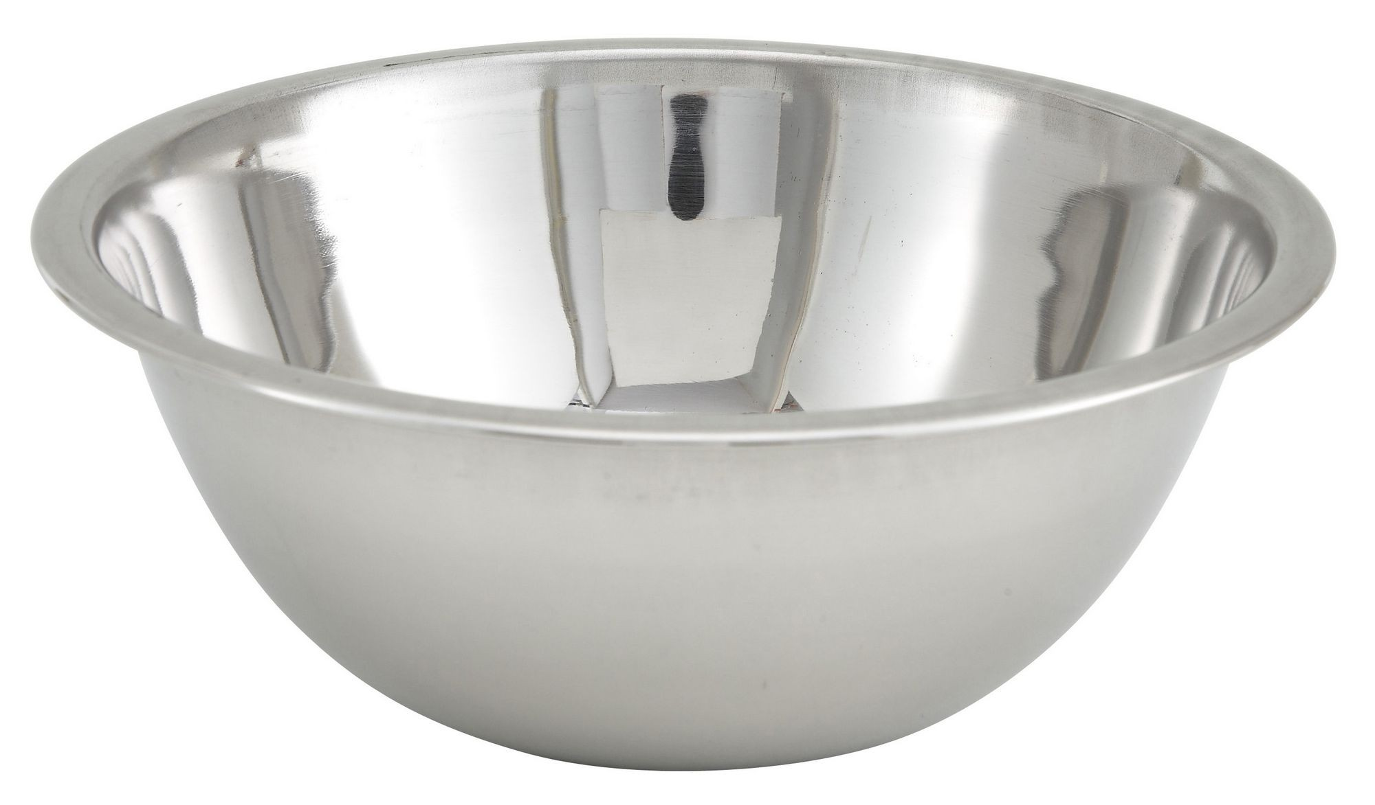 Winco MXBT-400Q Stainless Steel All-Purpose Mixing Bowl 4 Qt.