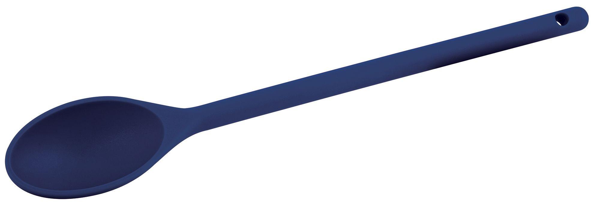 "Winco NS-12B Blue Nylon Heat Resistant Spoon, 12"""