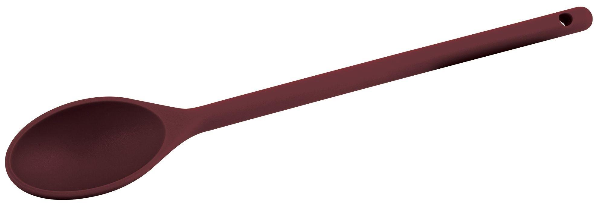 "Winco NS-12R Red Nylon Heat Resistant Spoon, 12"""