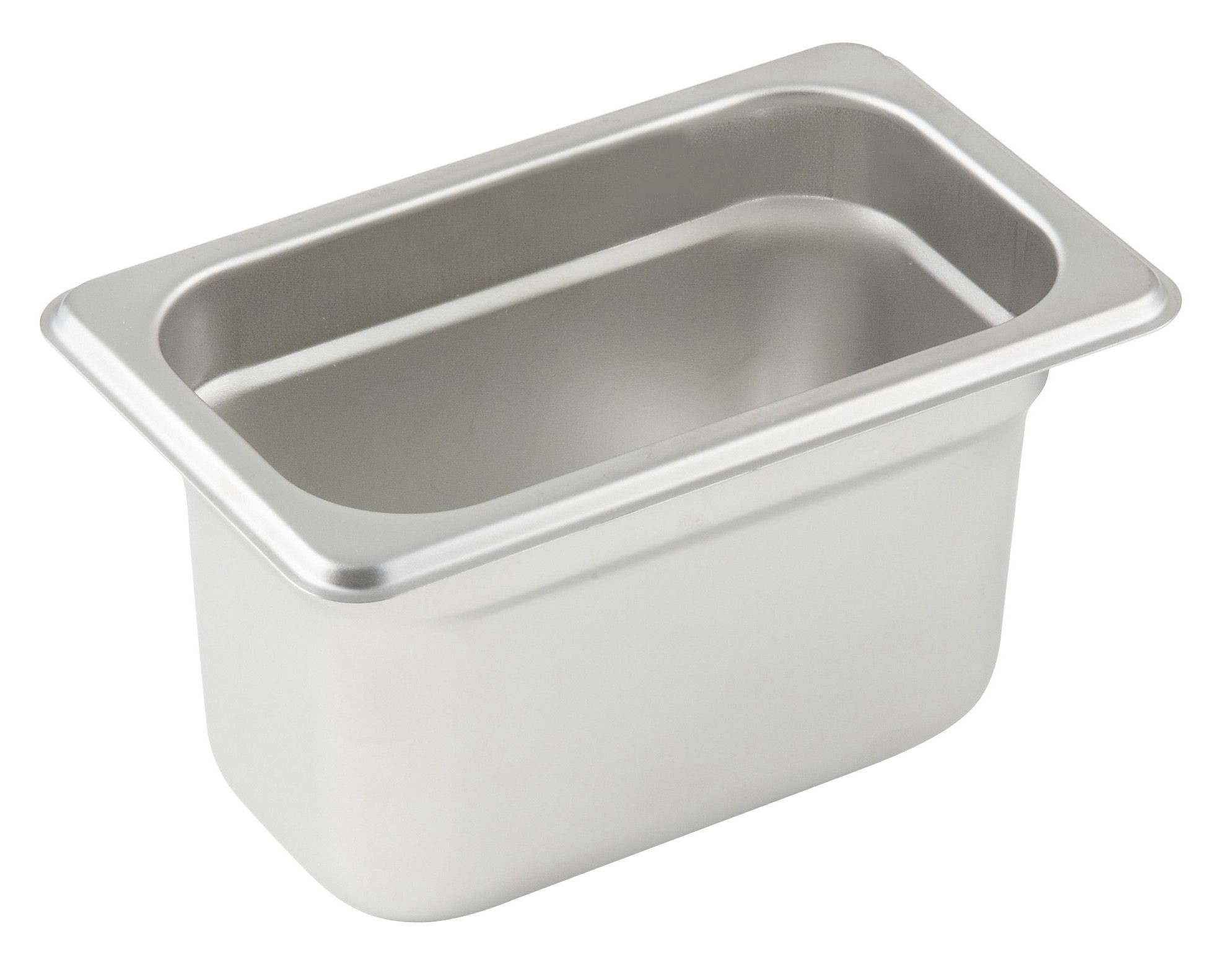 "Winco SPJL-904 1/9 Size Anti-Jam 25 Gauge Steam Table Pan 4"" Deep"