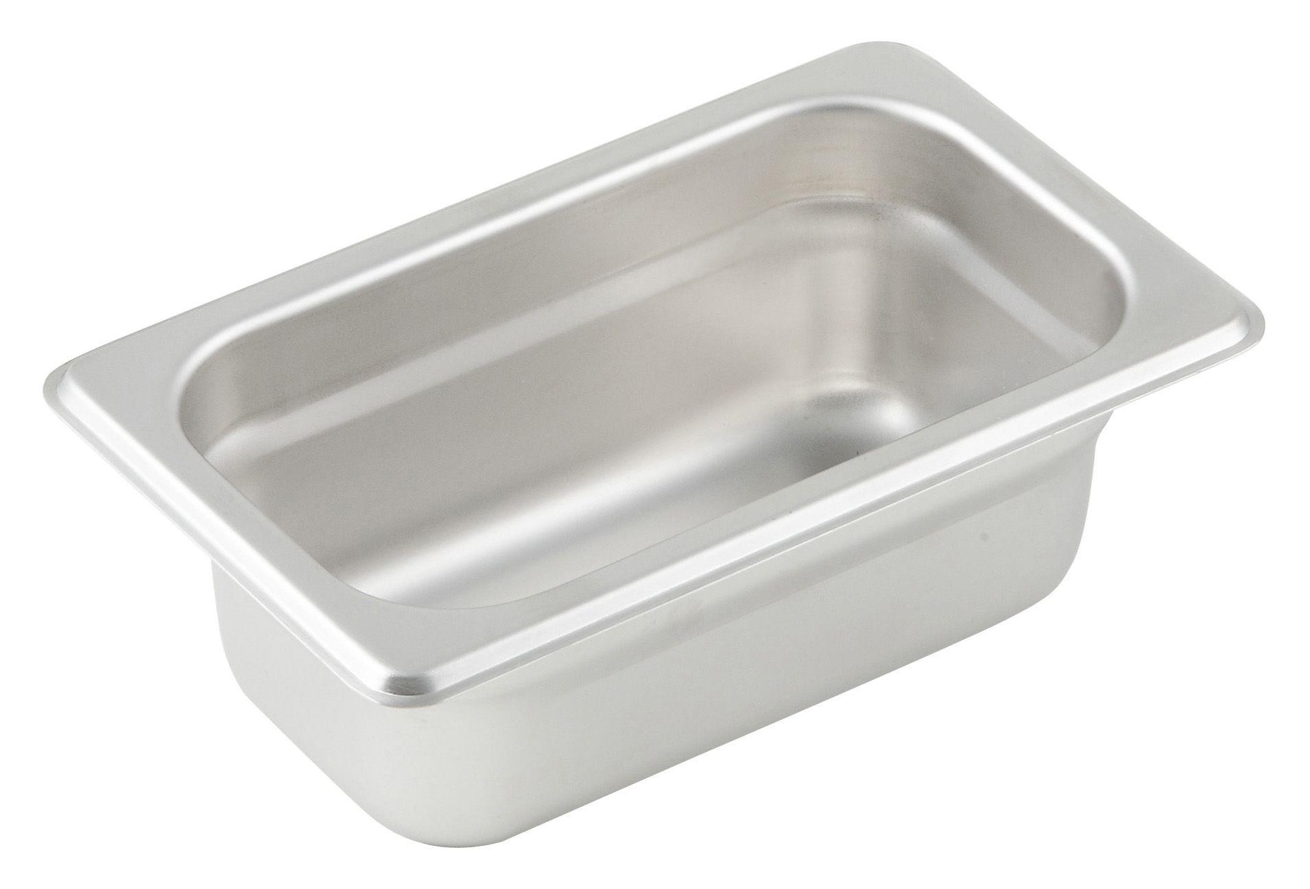 "Winco SPJP-902 1/9 Size Anti-Jam 23 Gauge Steam Table Pan 2-1/2"" Deep"