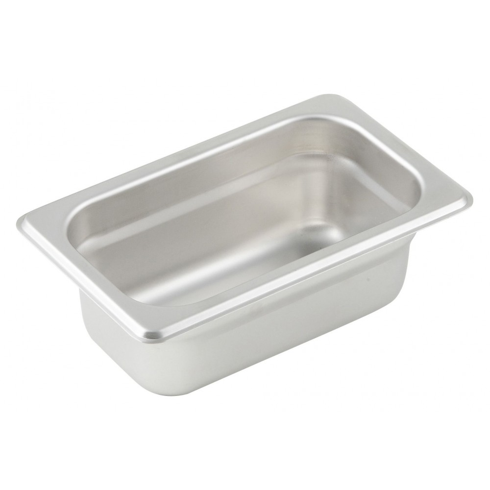 "Winco Spjl-902 1/9 Size Anti-Jam 25 Gauge Steam Table Pan 2-1/2"" Deep"