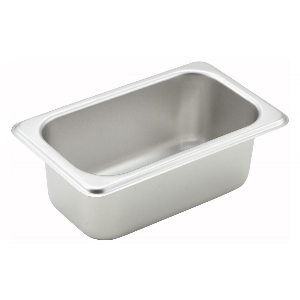 "Winco SPN2 1/9 Size Standard Weight Steam Table Pan 2-1/2"" Deep"