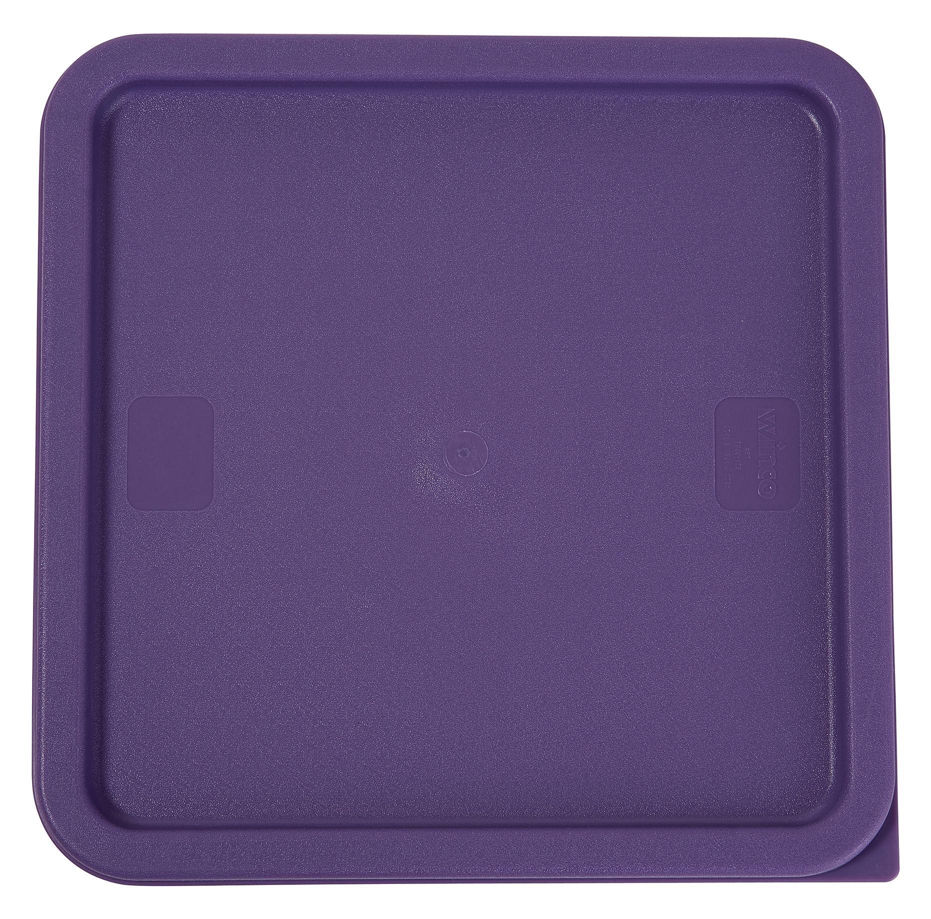 Winco PECC-128P Purple Cover for 12, 18 & 22 Qt. Containers, Allergen Free