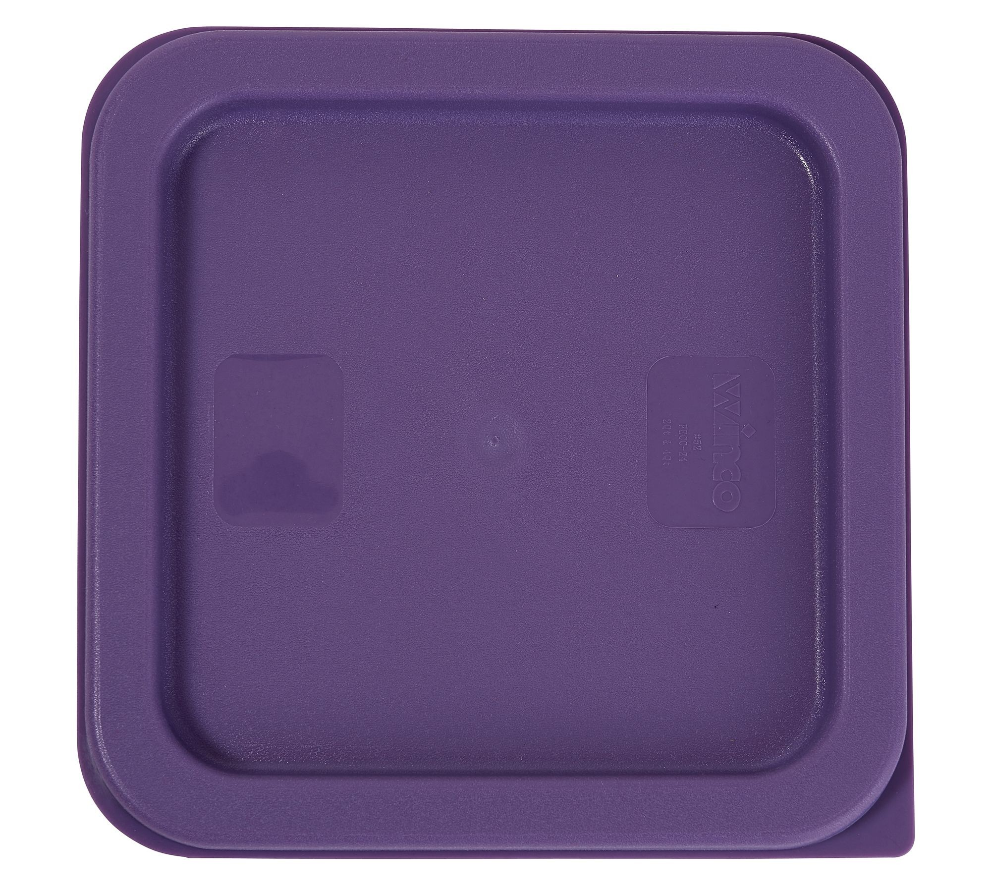 Winco PECC-24P Purple Square Cover for 2 and 4 Qt. Food Storage Containers, Allergen Free