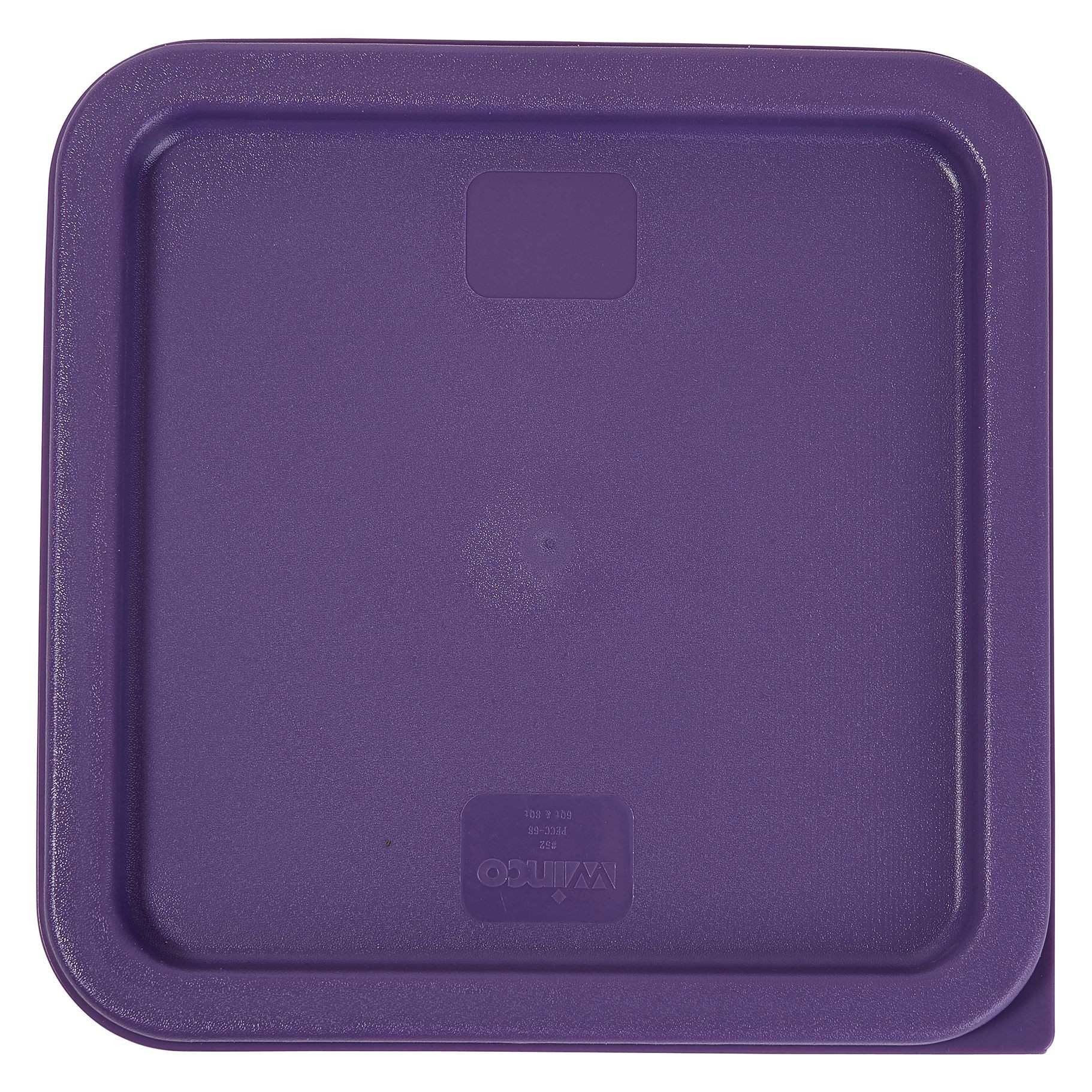 Winco PECC-68P Purple Square Cover for 6 & 8 Qt. Food Containers, Allergen Free