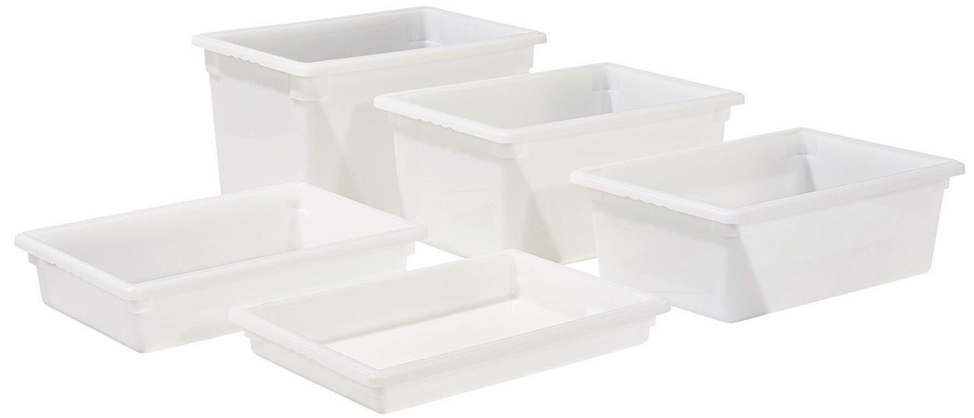 """Winco PFFW-3 Food Storage Box, White 18"""" x 26"""" x 3"""""""