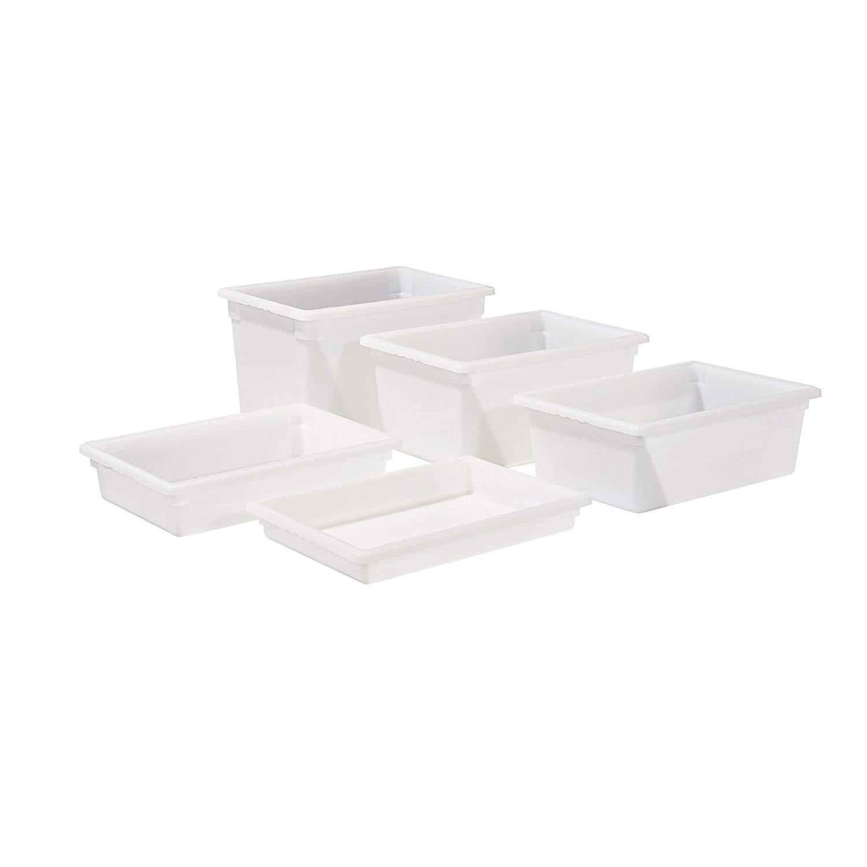 "Winco PFHW-3 Food Storage Box, White 12"" x 18"" x 3"""