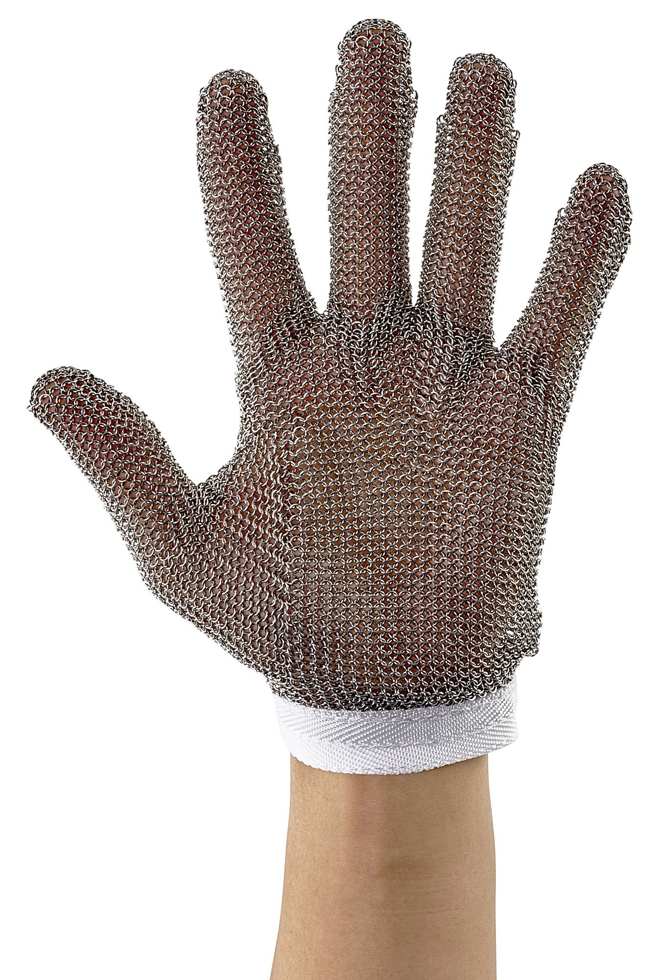 Winco PMG-1S Small Reversible Stainless Steel White Protective Mesh Glove