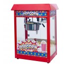 Winco POP-8R Show Time Electric Countertop Popcorn Machine, Red 120V, 1350W