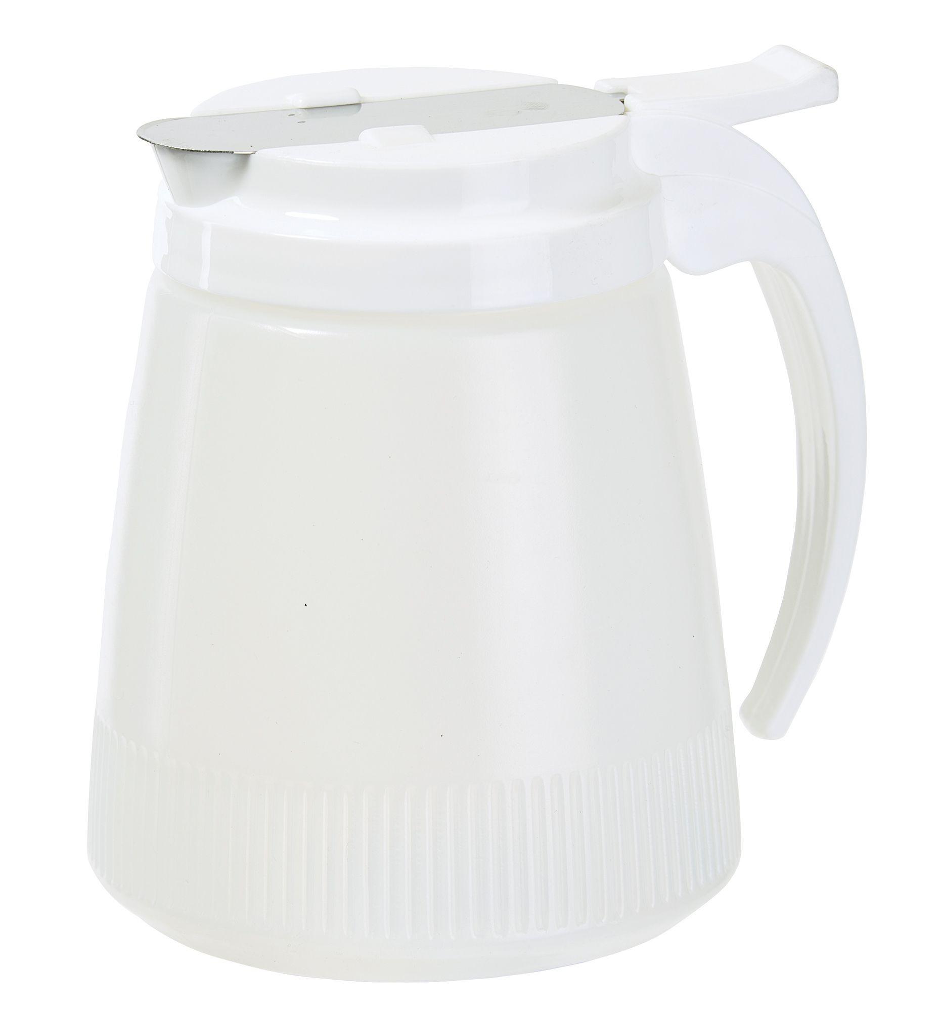 Winco PSUD-32 Plastic Syrup Dispenser 32 oz.