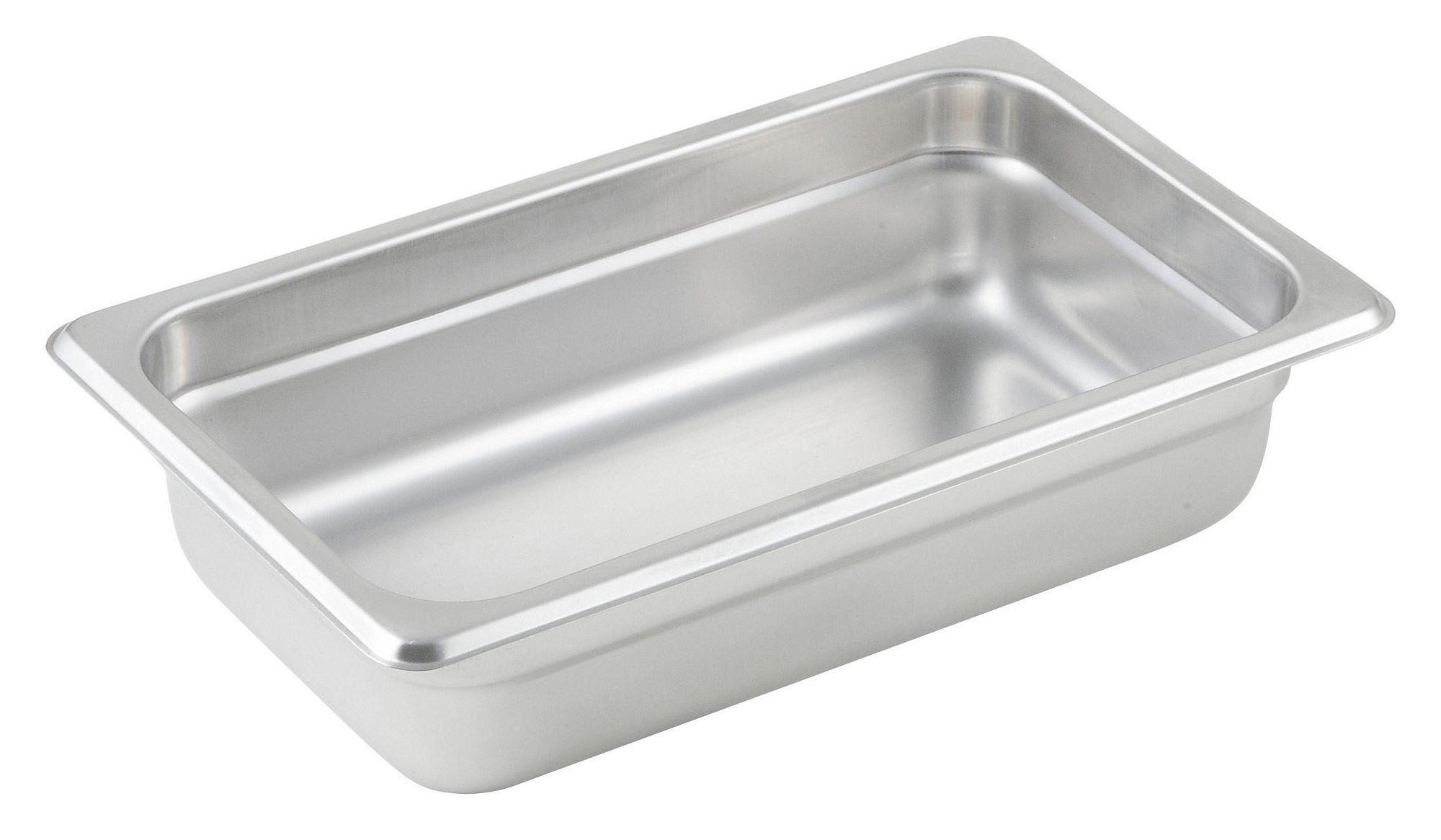 "Winco SPJL-402 1/4 Size Anti-Jam 25 Gauge Steam Table Pan 2-1/2"" Deep"