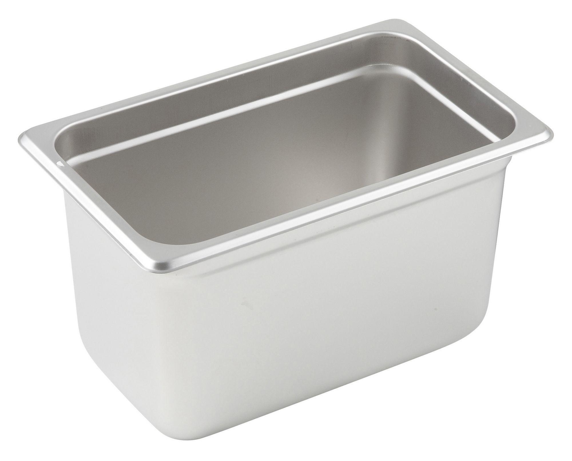 "Winco SPJL-406 1/4 Size Anti-Jam 25 Gauge Steam Table Pan 6"" Deep"