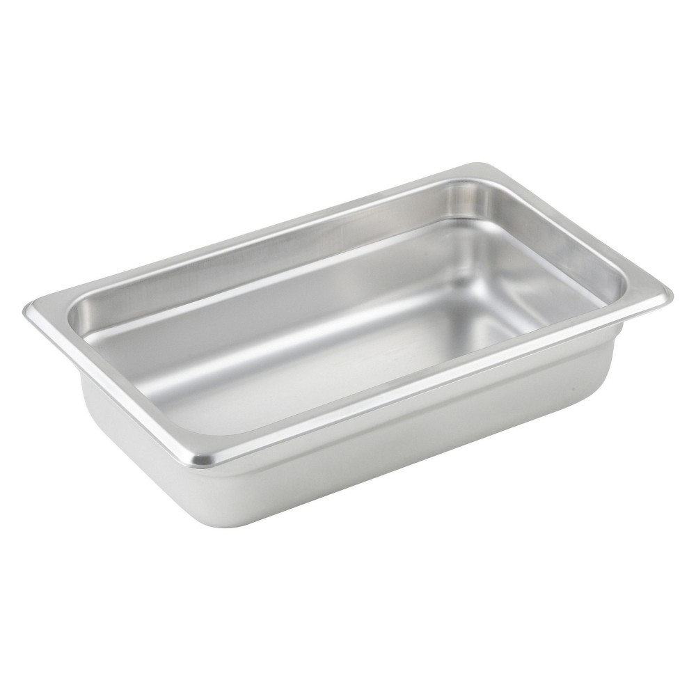 Winco Quarter Size Anti-Jamming Steam Table Pan (25 Gauge, 2.5