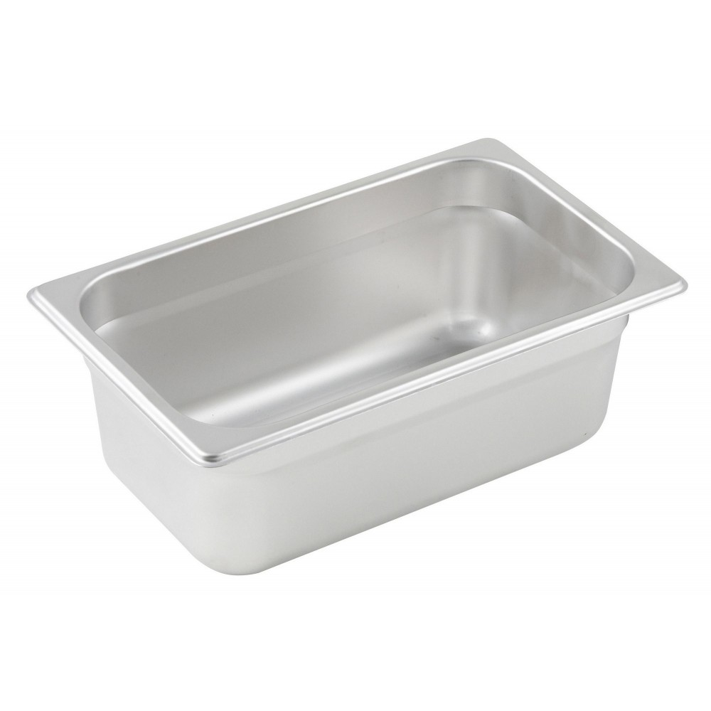 Winco Quarter Size Anti-Jamming Steam Table Pan (25 Gauge, 4