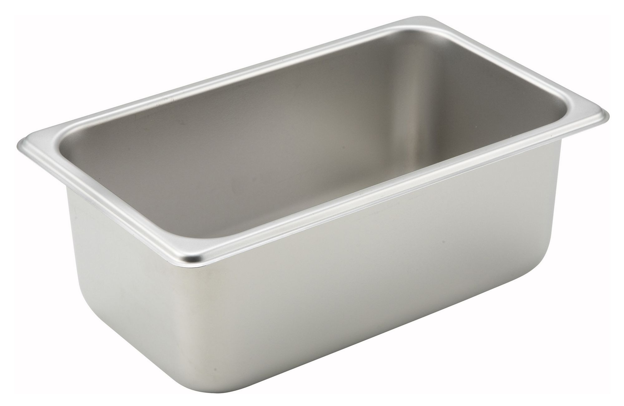 "Winco spq4 1/4 Size Standard Weight Steam Table Pan 4"" Deep"