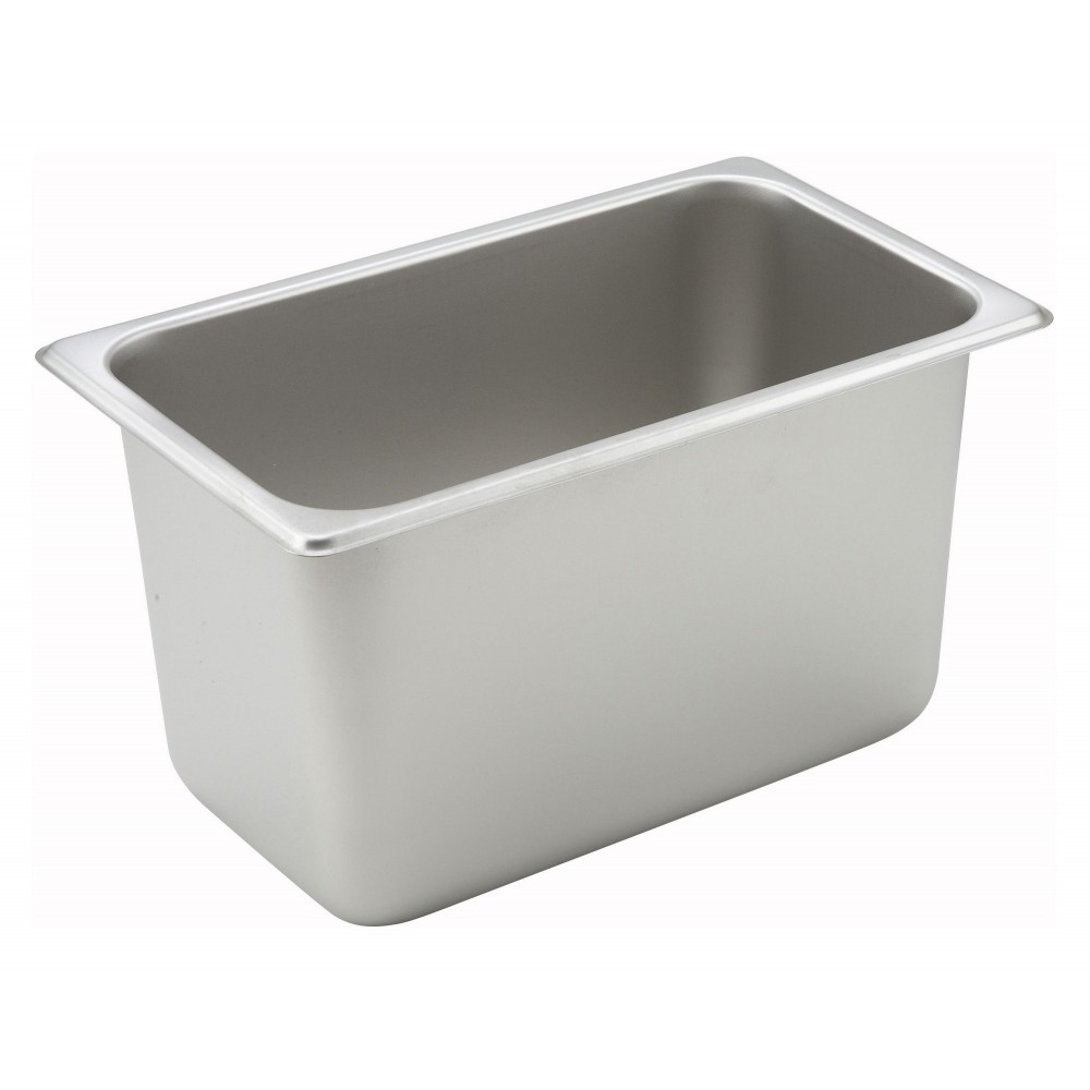 Winco Quarter Size Steam Table Pan (25 Gauge, 6