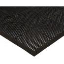Winco RBMM-35K Black Rubber Floor Mat with Beveled Edges 3? x 5? x 3/8?