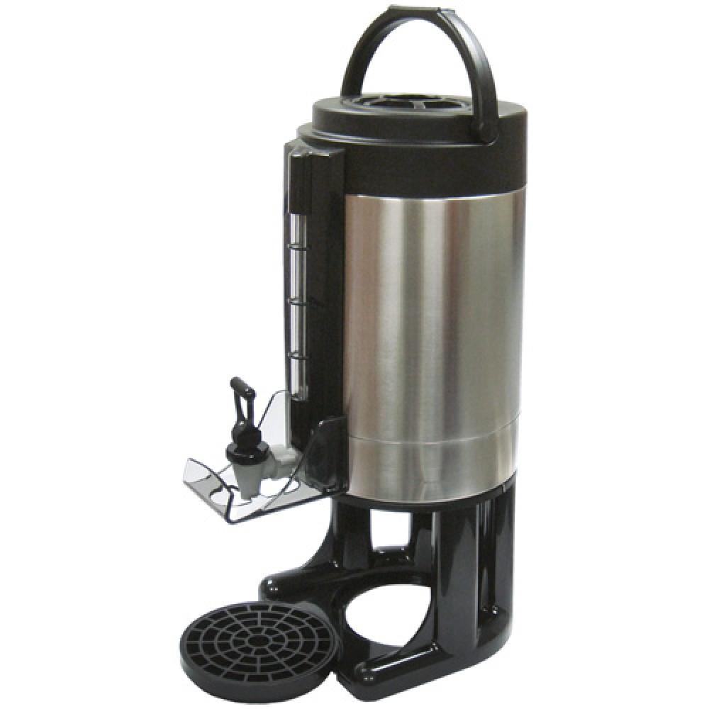 Winco SBD-1.5 Gravity Beverage Dispenser with Brew-thru Lid with Sight Glass 6.0 Liter