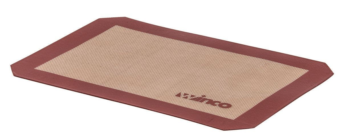 "Winco SBS-11 Quarter Size Silicone Baking Mat, 8-1/4"" x 11-3/4"""