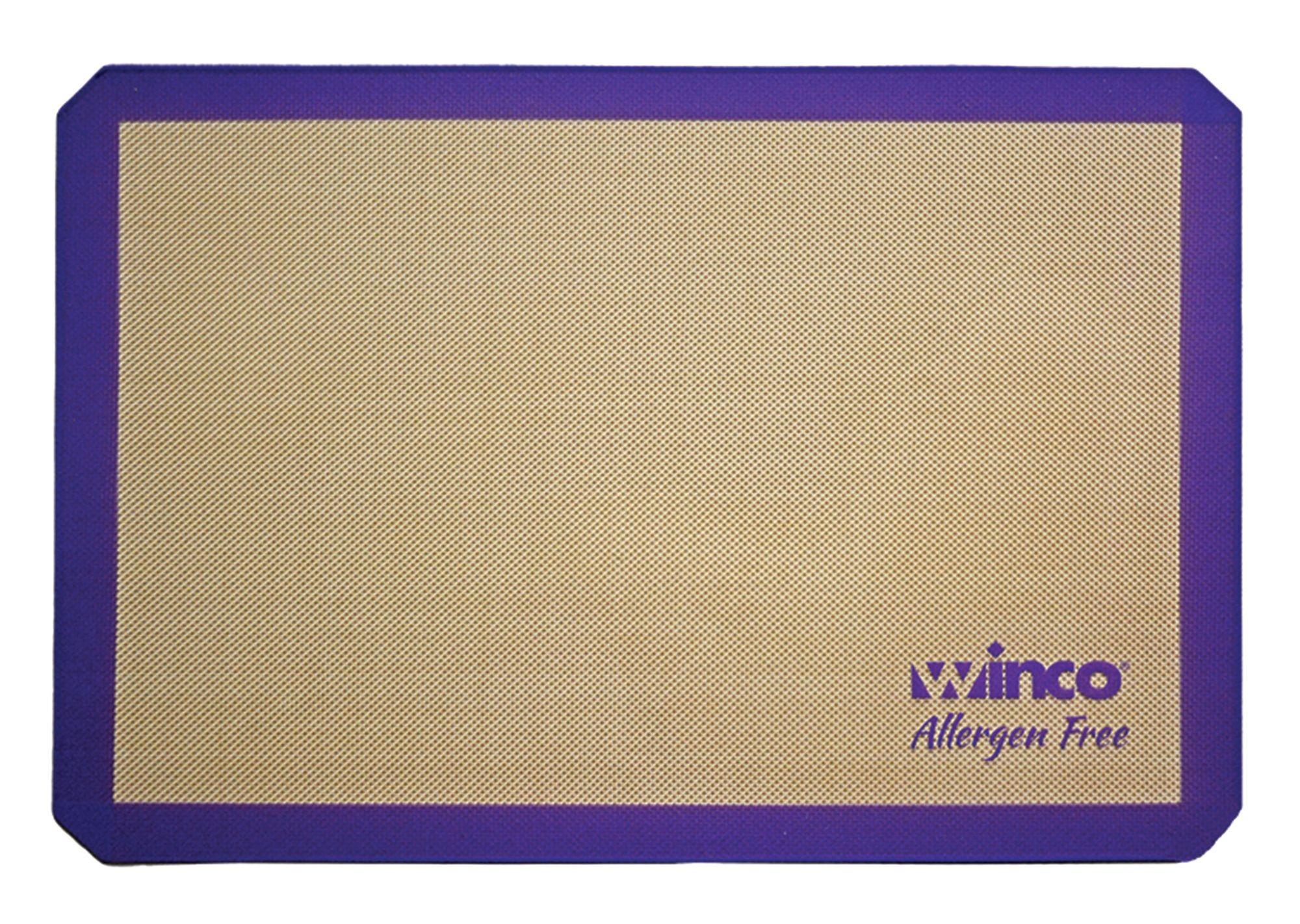 """Winco SBS-16PP Half Size Allergen Free 11-5/8"""" x 16-1/2"""" Silicone Baking Mat"""
