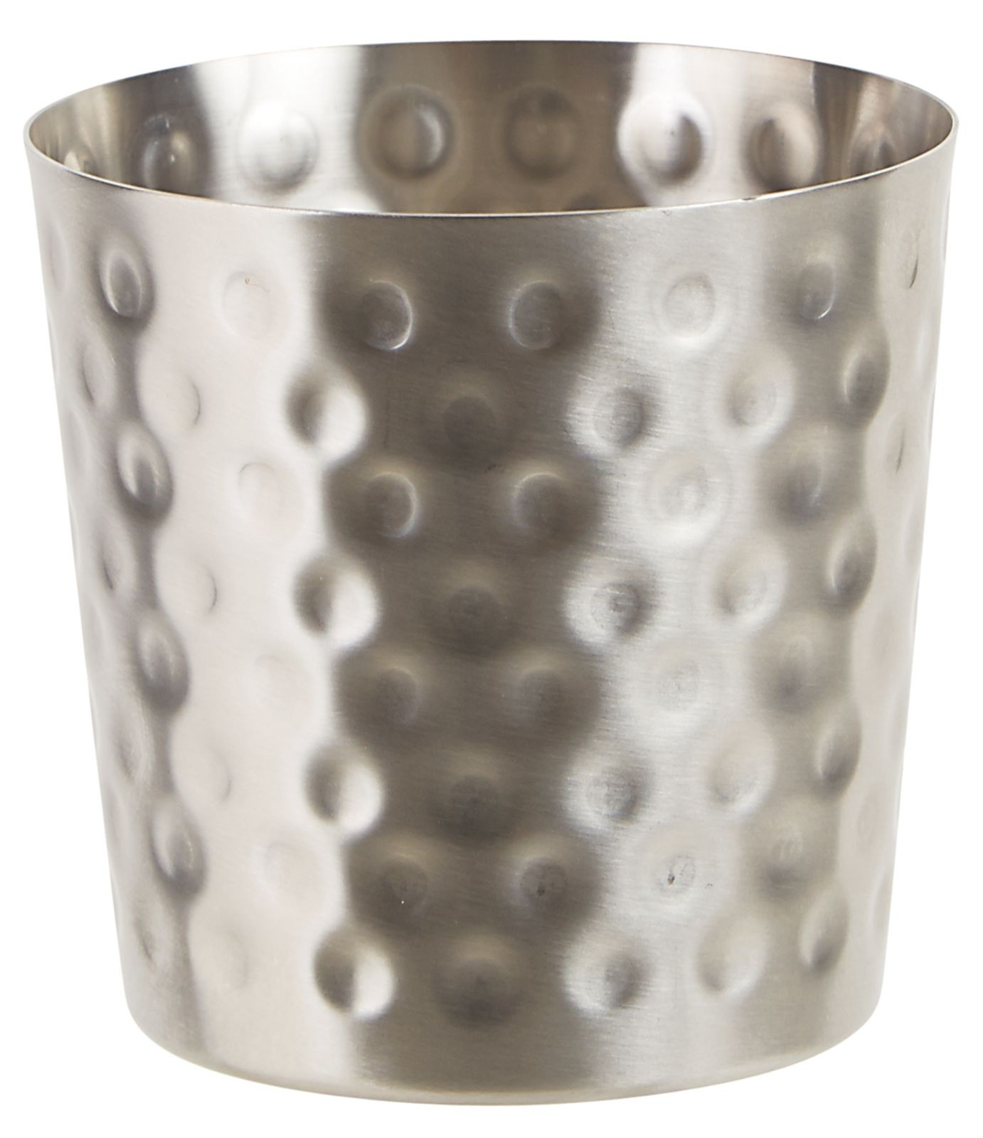 "Winco SFC-35H 3.25"" Dia. Stainless Steel Fry Cup with Hammered Finish"