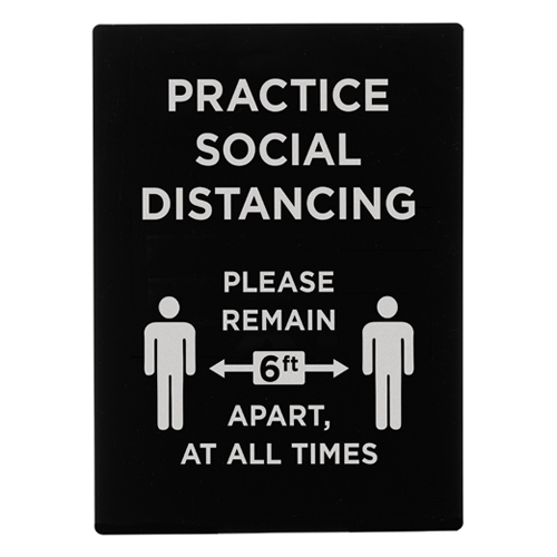 "Winco SGN-806 ""Practice Social Distancing"" Stanchion Frame Sign"