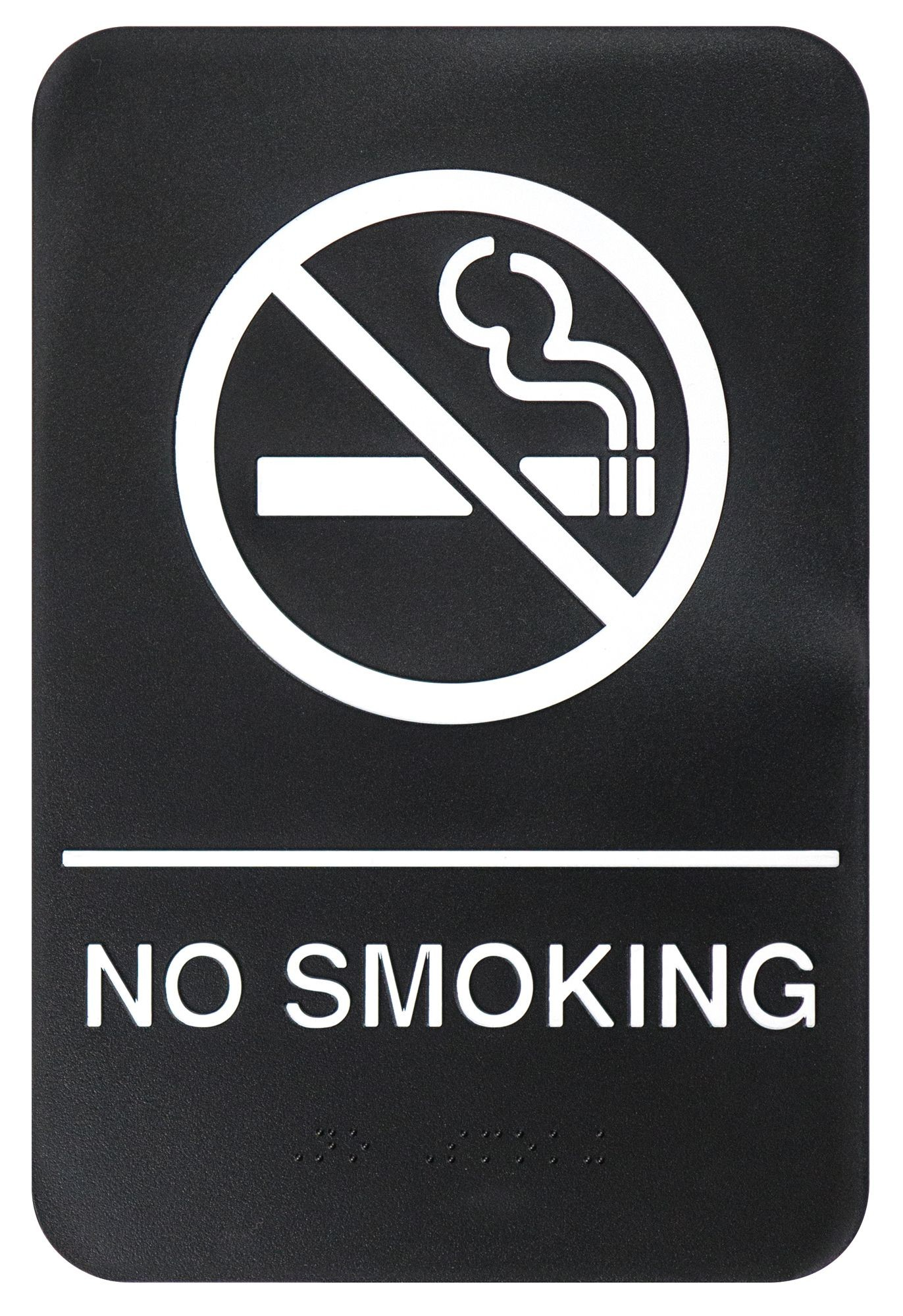 "Winco SGNB-601 Braille Information Sign, ""No Smoking Area"", 6"" x 9"""