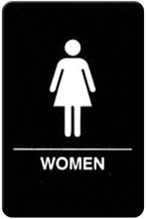 """Winco SGNB-606 Braille Information Sign, """"Women"""", 6"""" x 9"""""""