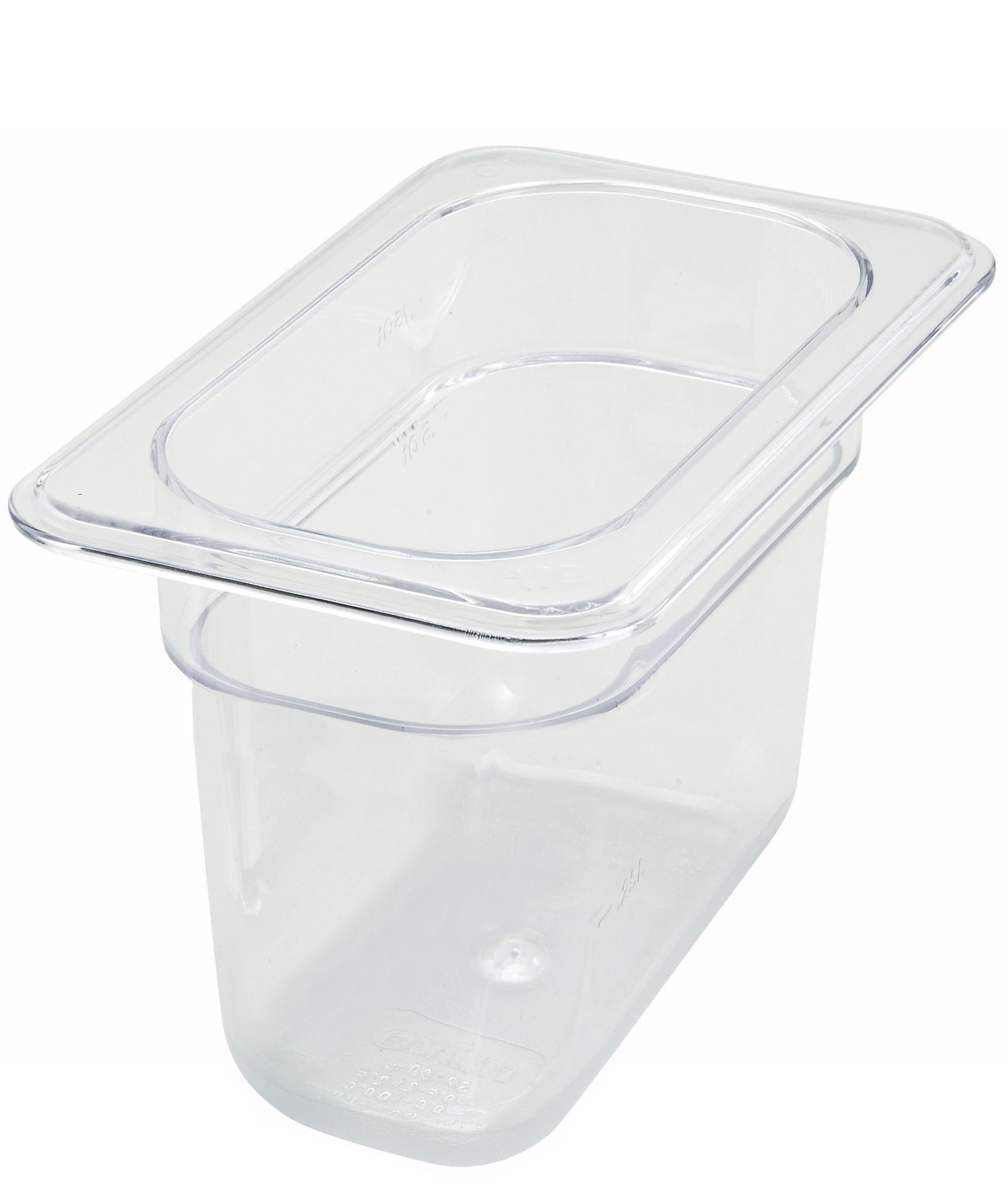 "Winco SP7906 Ninth Size Polycarbonate Food Pan, 6"" Deep"