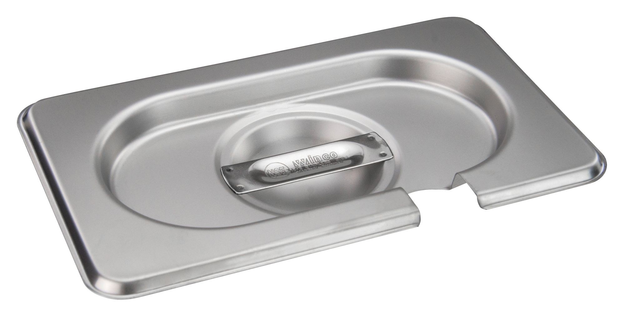 Winco SPCN-GN Solid Stainless Steel Steam Pan Cover for SPJH-906G/N