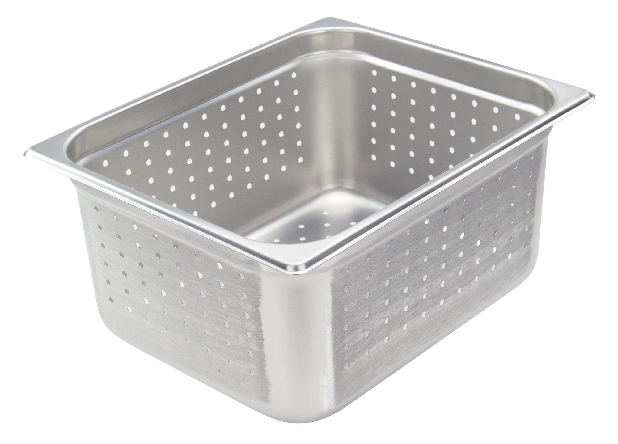 """Winco SPJH-206PF Half Size Perforated Steam Pan, 6"""" Deep"""