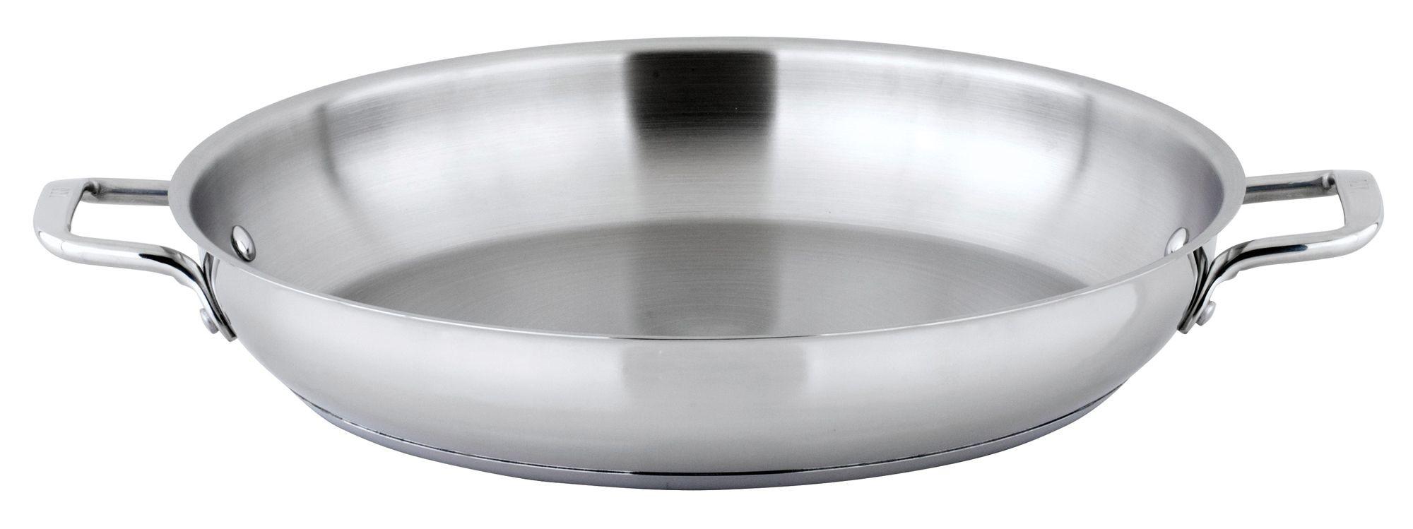 "Winco SSOP-14 Stainless Steel 14"" Omelet Pan"