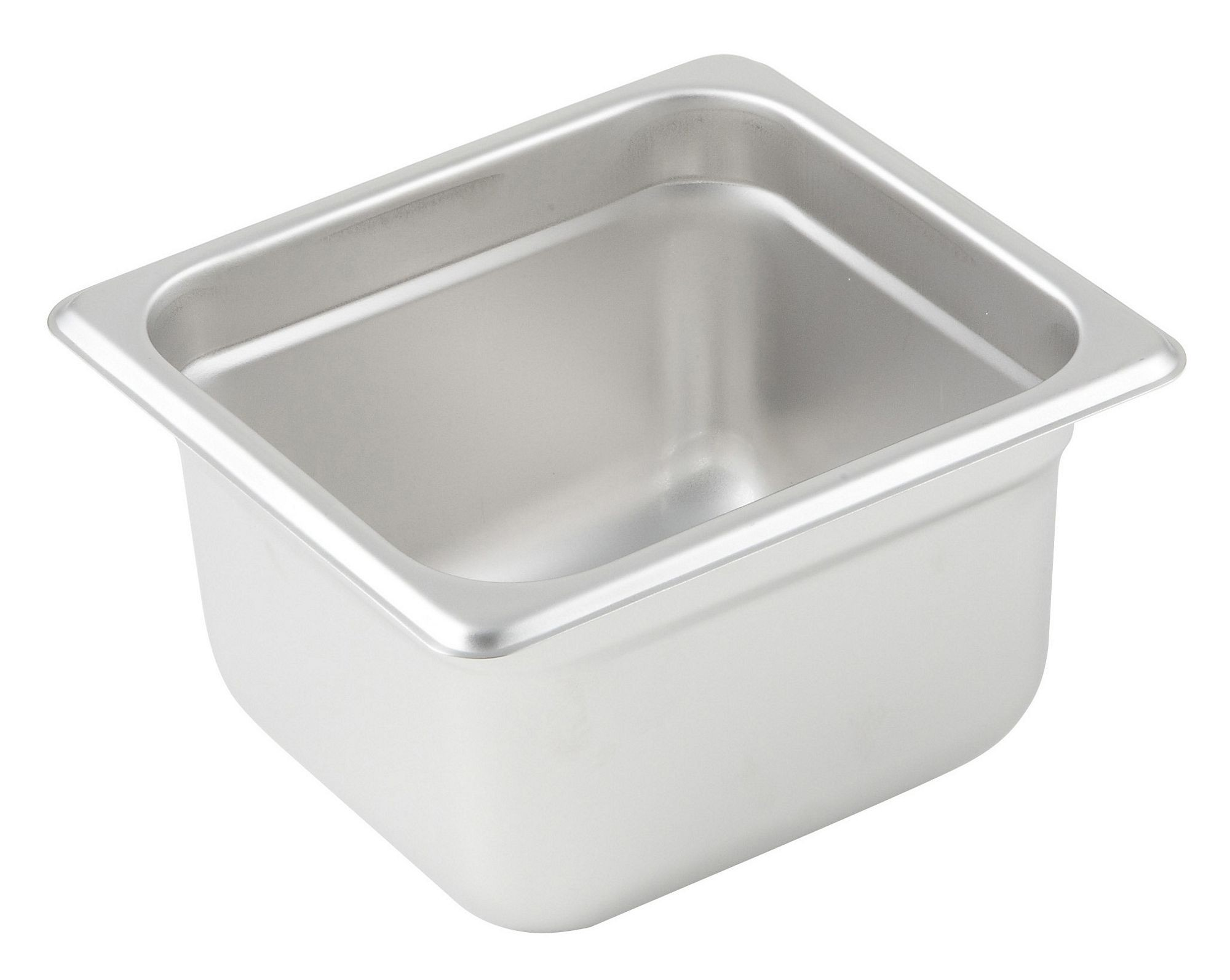 "Winco SPJM-604 1/6 Size Anti-Jam 24 Gauge Steam Table Pan 4"" Deep"
