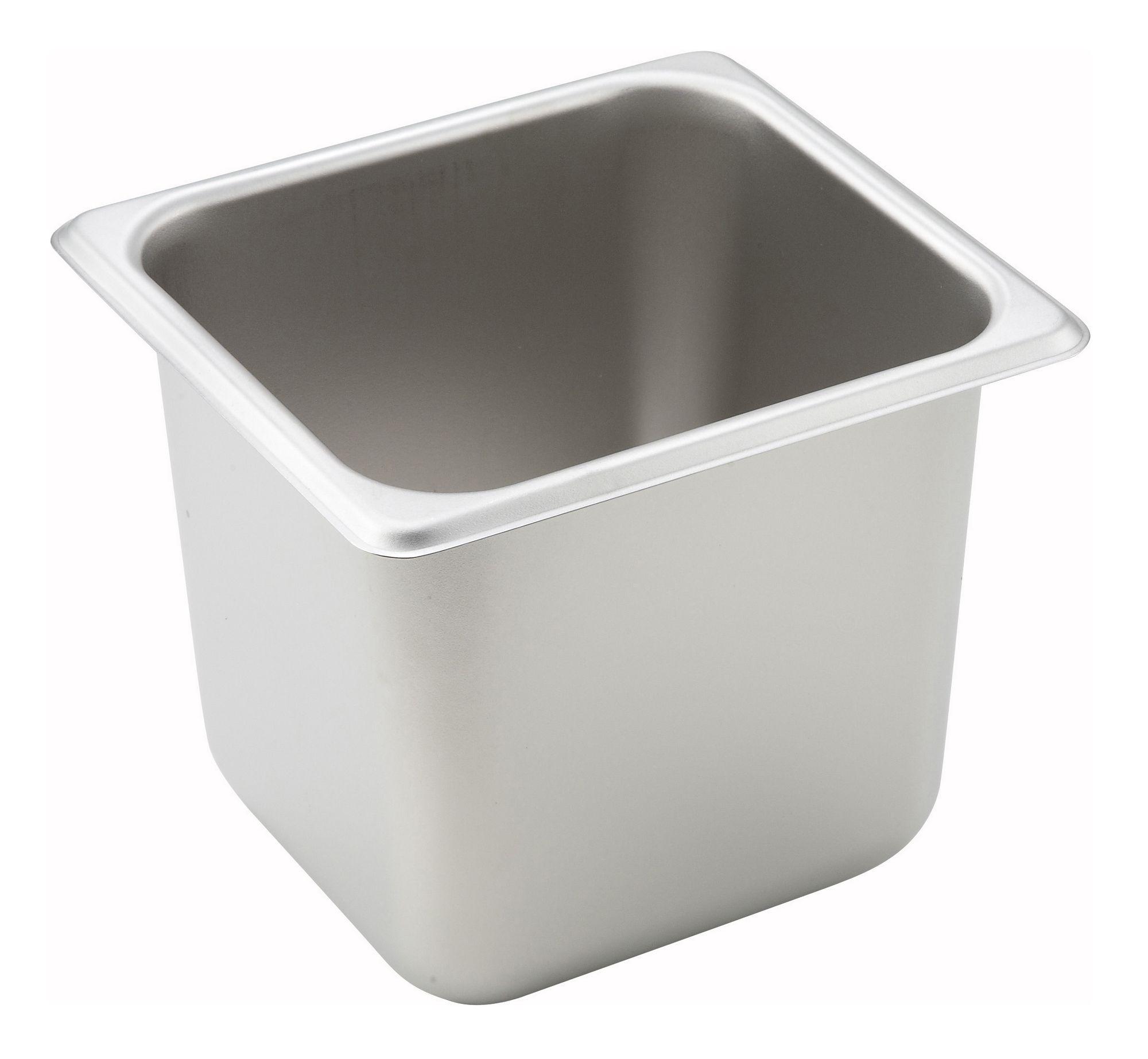 "Winco SPS6 1/6 Size Standard Weight Steam Table Pan 6"" Deep"